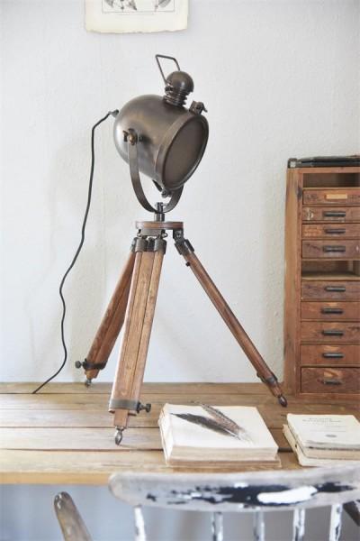 Studio Lampe - Alte Holzoptik