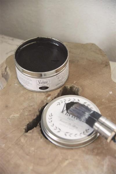 Vintage Wachs - Schwarz - 370 ml